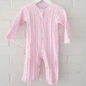 Elephantito Pink Knit Romper